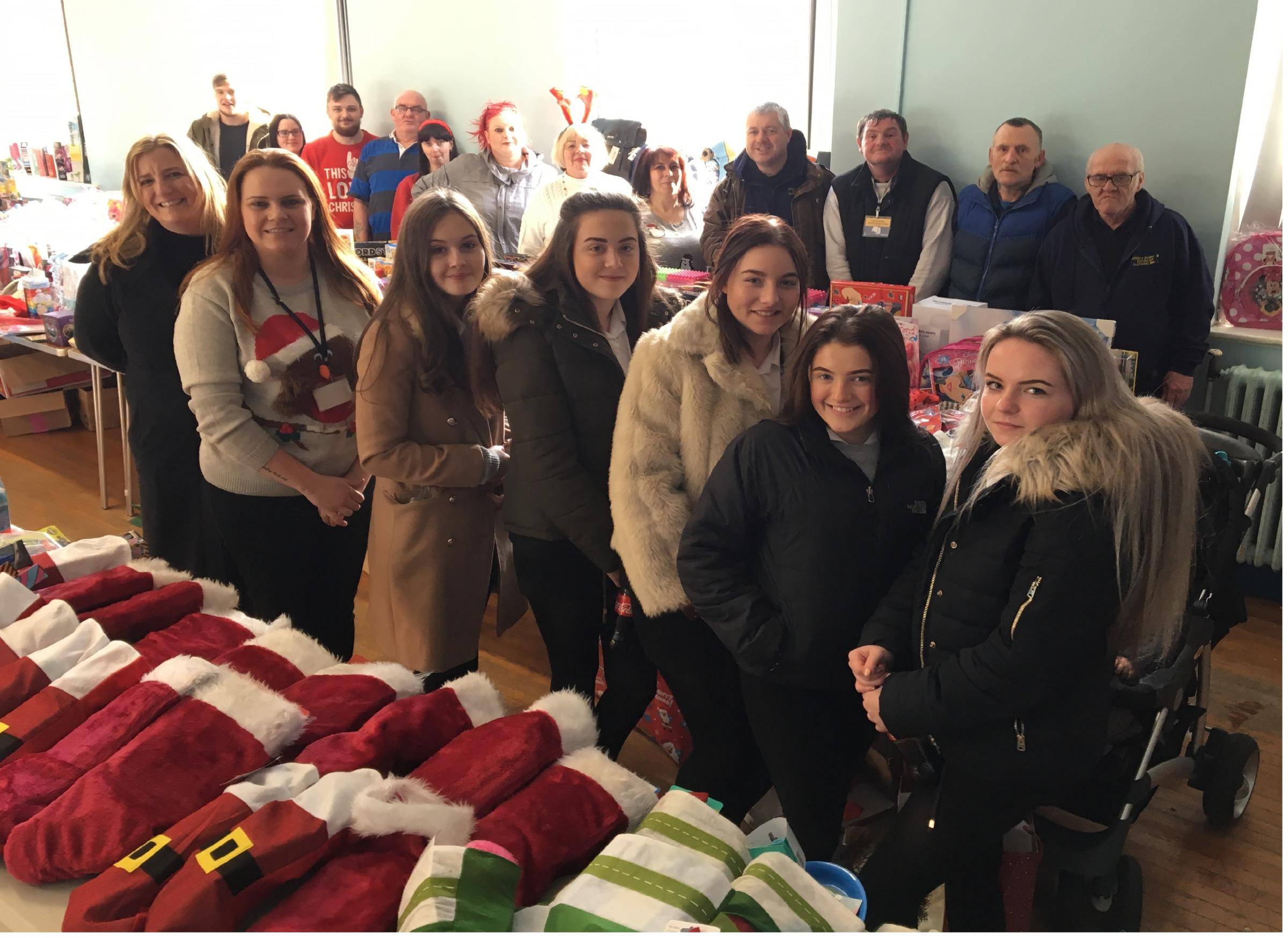 Hundreds of toys were handed out by the County Durham Socialist Clothing Bank, in Brandon