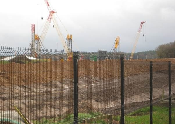 Campaigners say cranes at the site intrude on the surrounding countryside