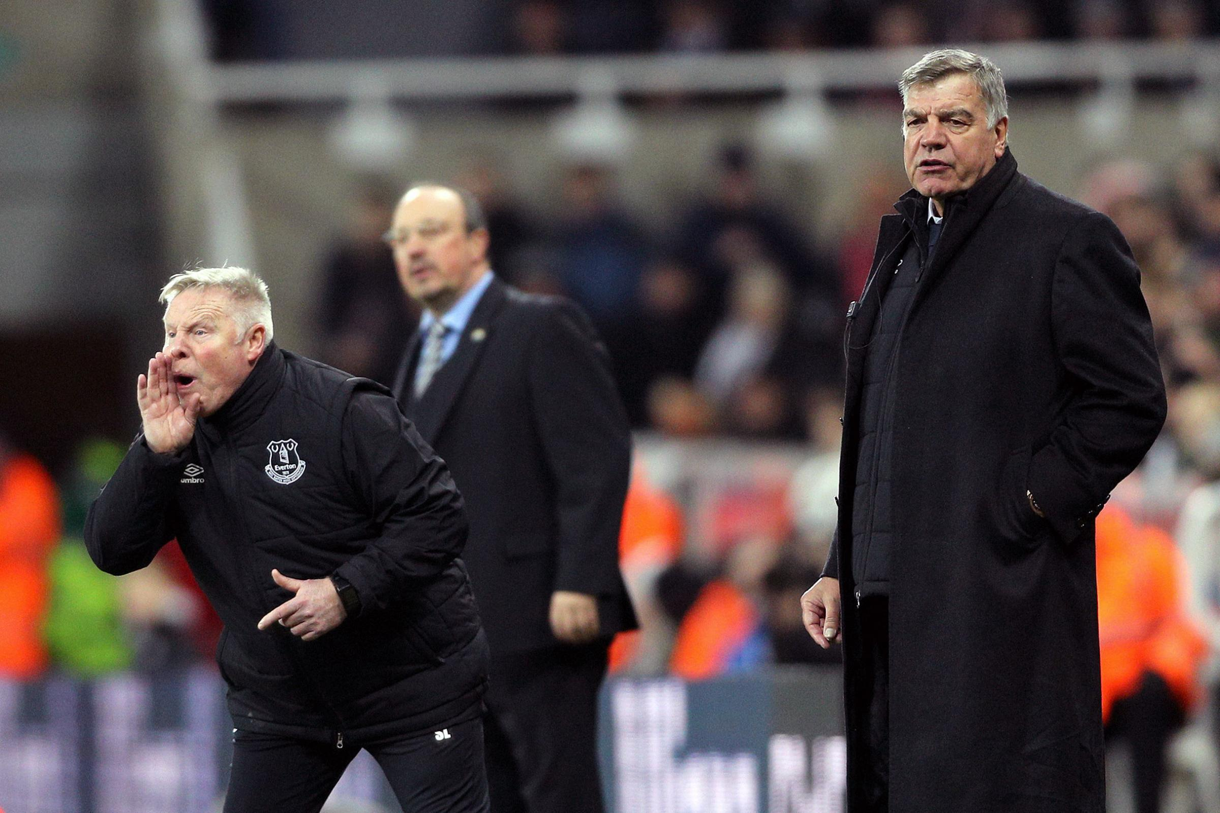 Everton manager Sam Allardyce (right) during the Premier League match at St James' Park, Newcastle. Picture: PA