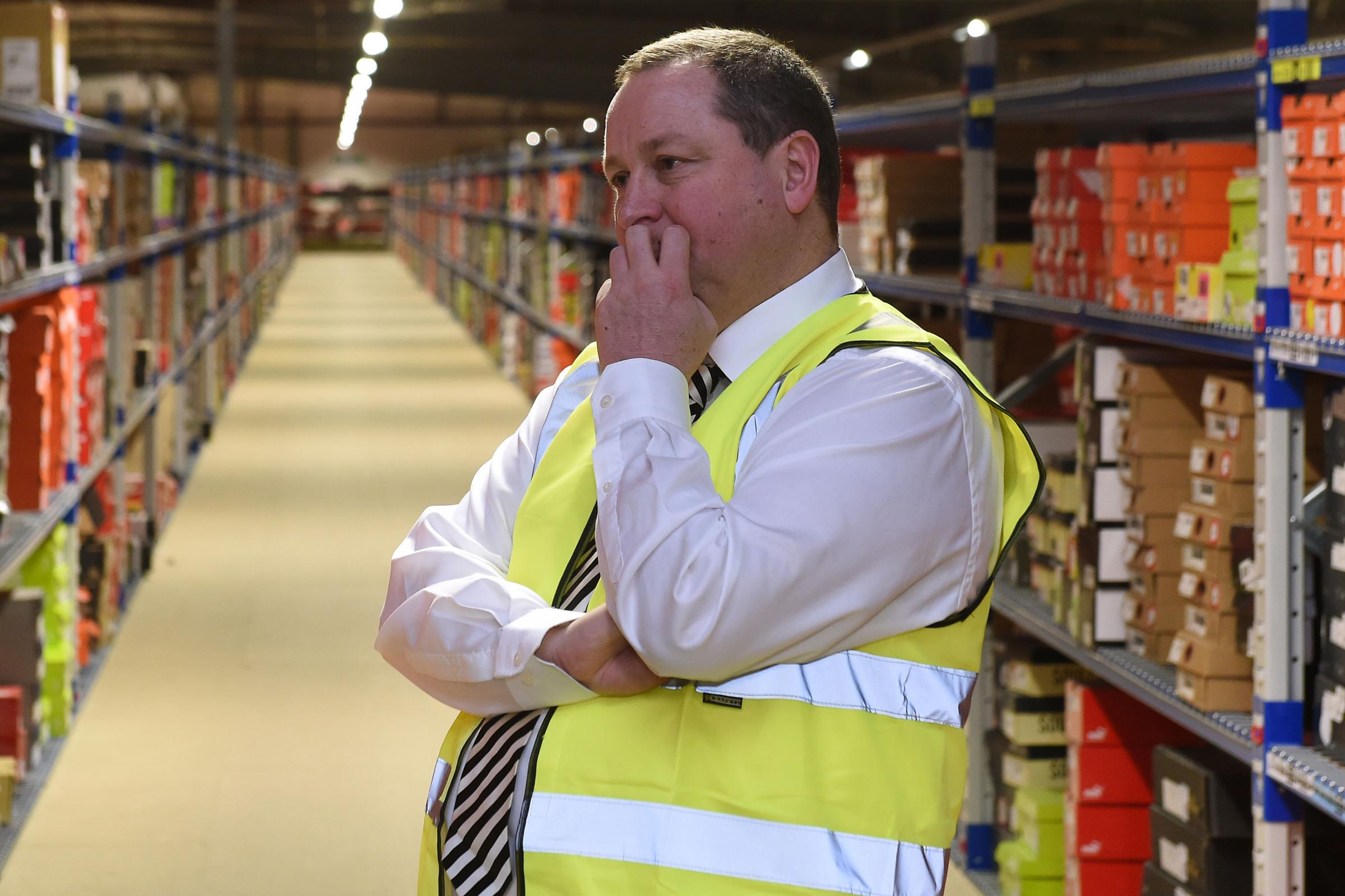 PLANS: Sports Direct has seen earnings fall, but Mike Ashley says work to improve stores is delivering