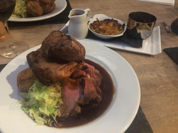 The Northern Echo: The Roast Rib of Beef with accompanying side dishes