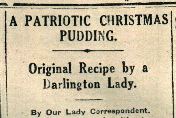 The headline for the recipe from The Northern Echo