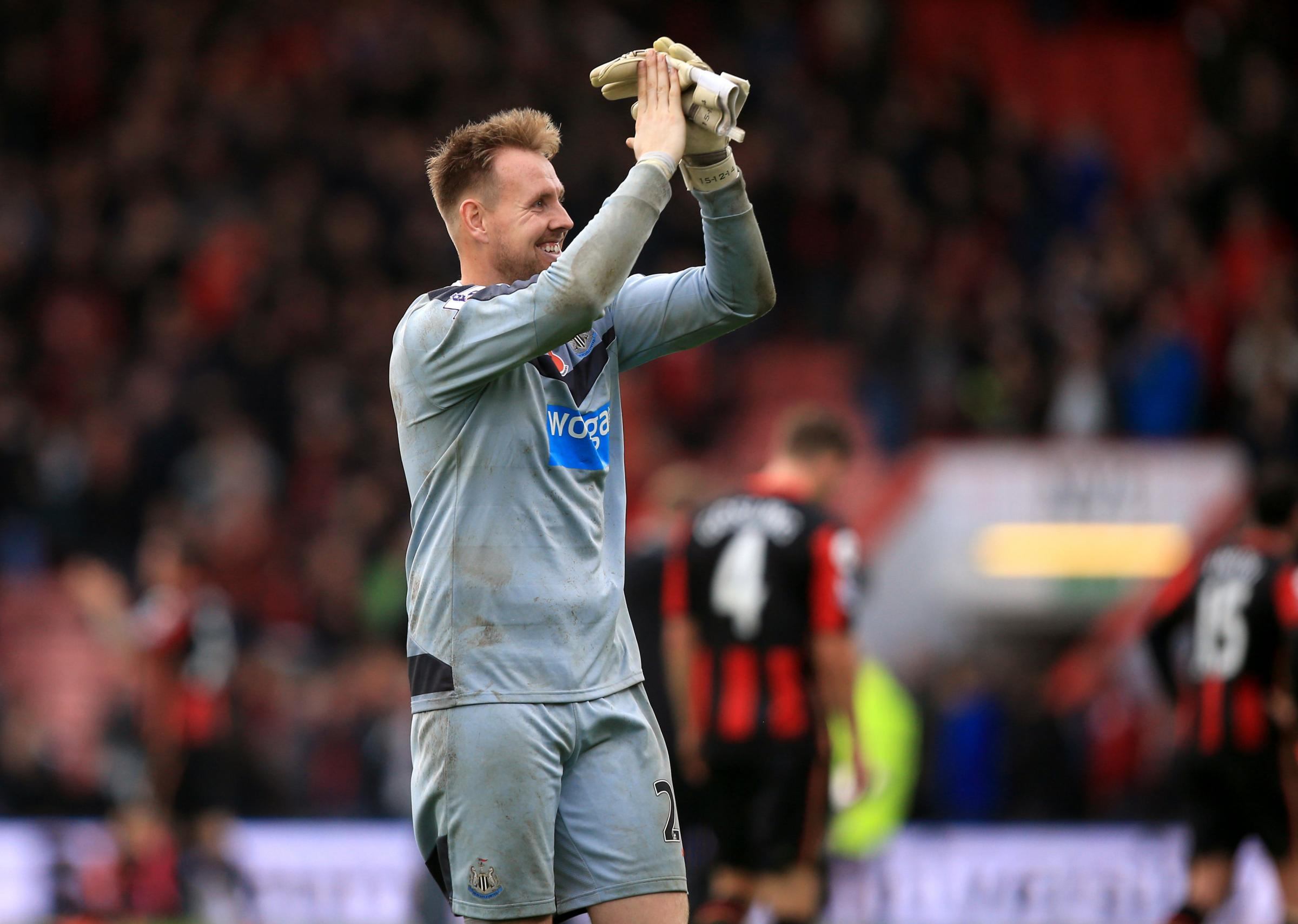 INJURY BLOW: Newcastle goalkeeper Rob Elliot will miss tomorrow's game with Brighton