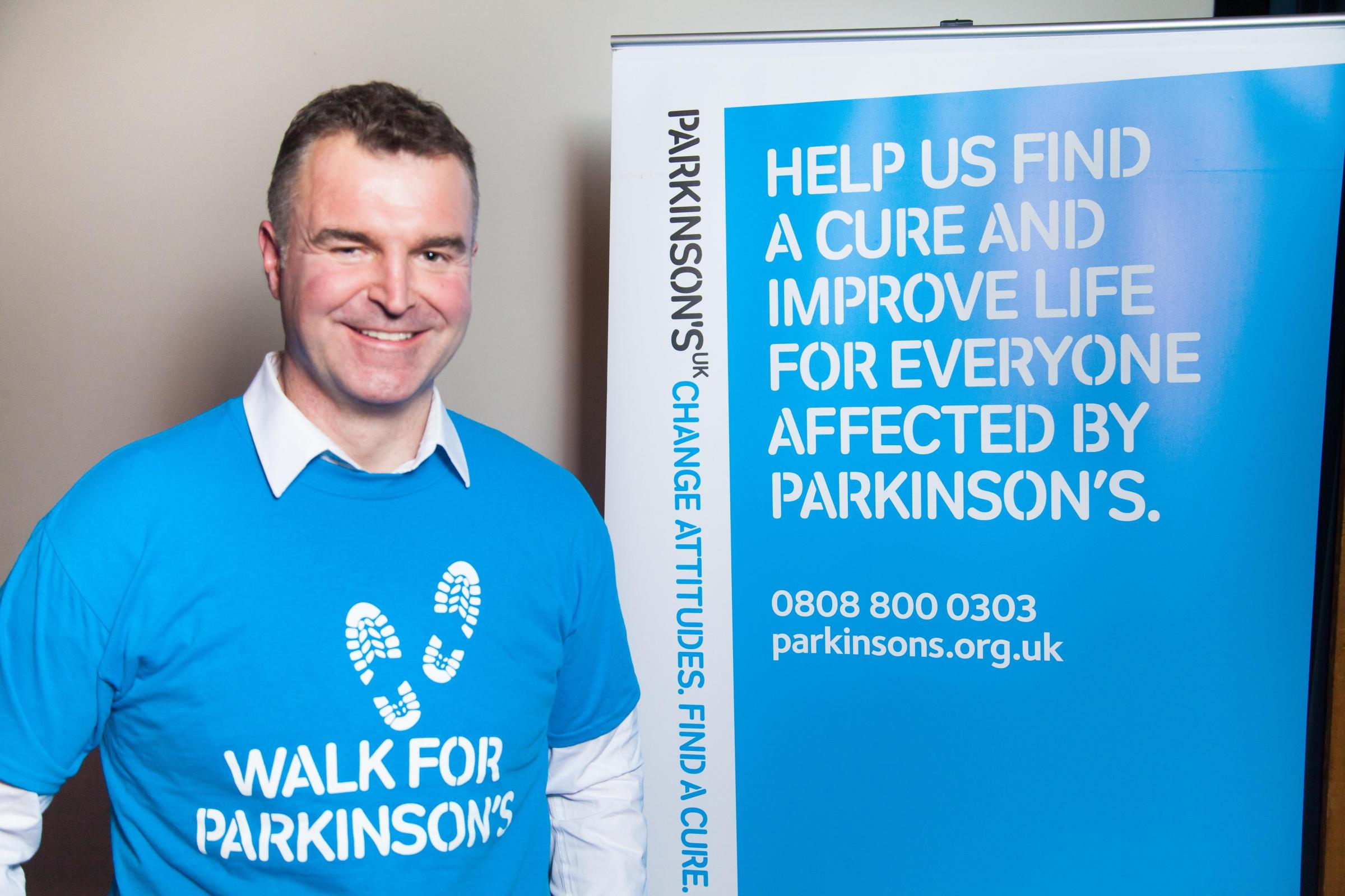 CHARITY: Presenter Dave Clark is urging people to join in the sponsored walk
