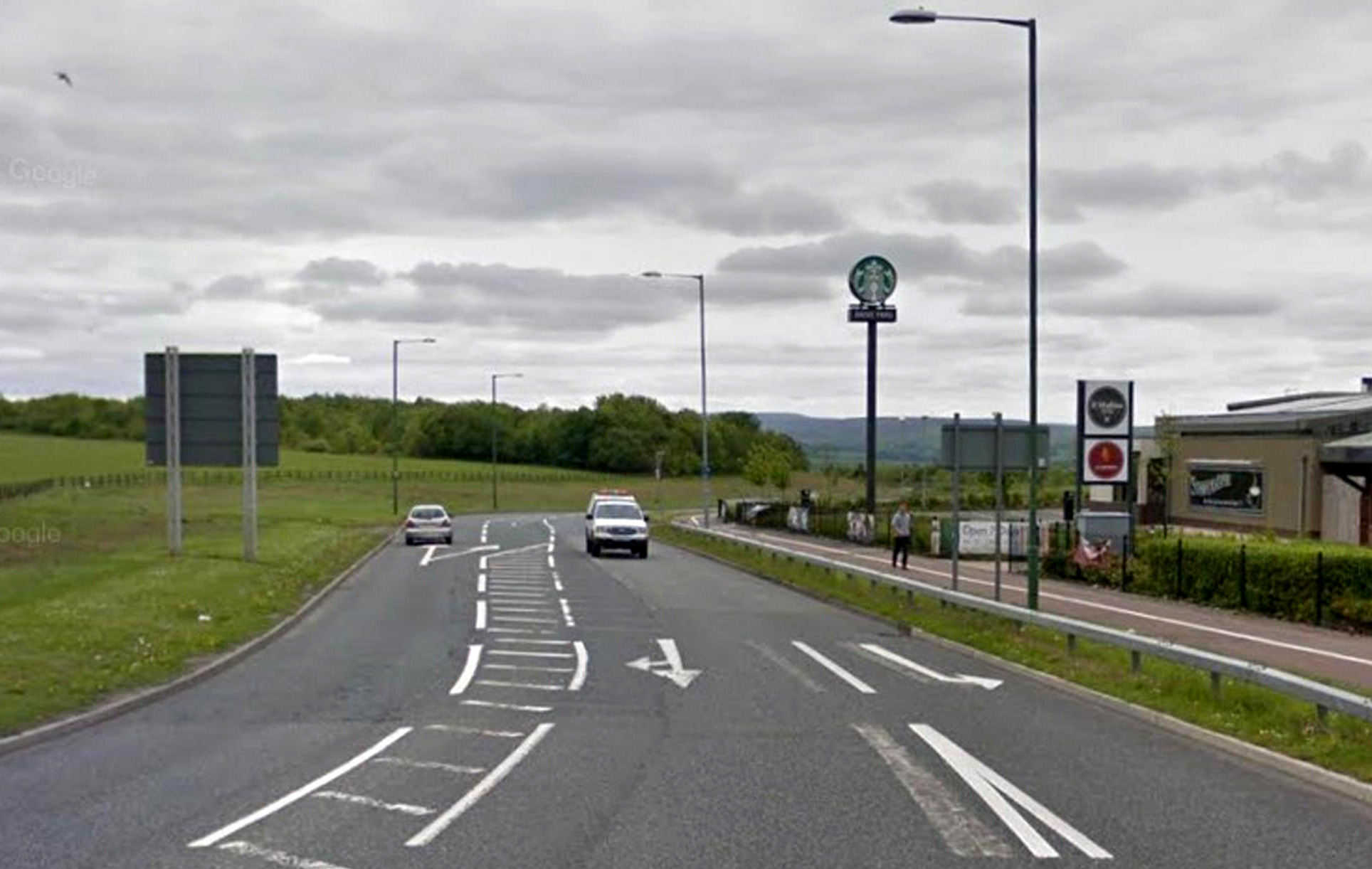 CLOSED: Genesis Road in Consett has been closed following a three-vehicle crash. Picture: GOOGLE