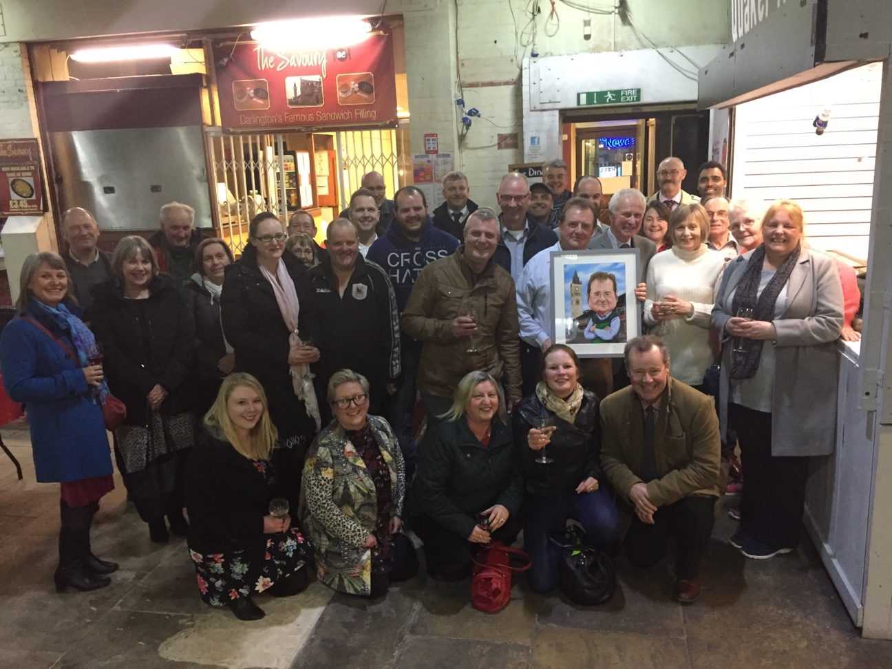 Traders gather to pay tribute to retiring Darlington markets manager Albert Nowicki