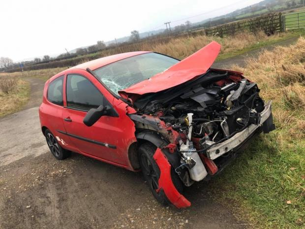 The Northern Echo: WRECKAGE: A 17-year-old has had a lucky escape after crashing into a horse in Bishop Auckland in the early hours of Sunday morning