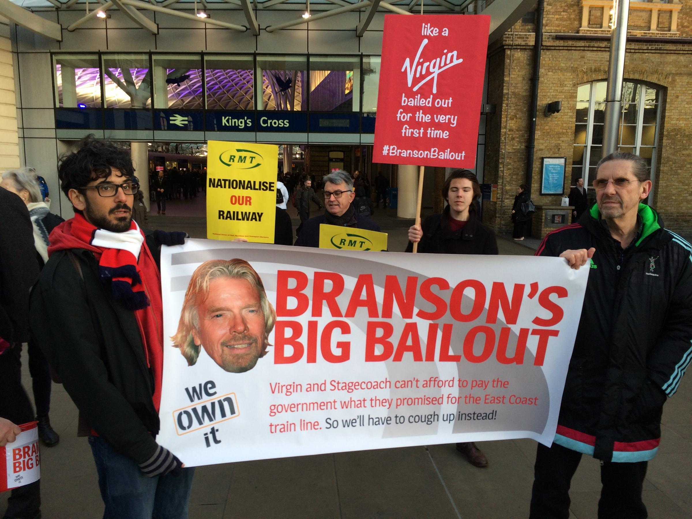 DEMO: A demonstration at King's Cross over the decision to terminate the East Coast contract early