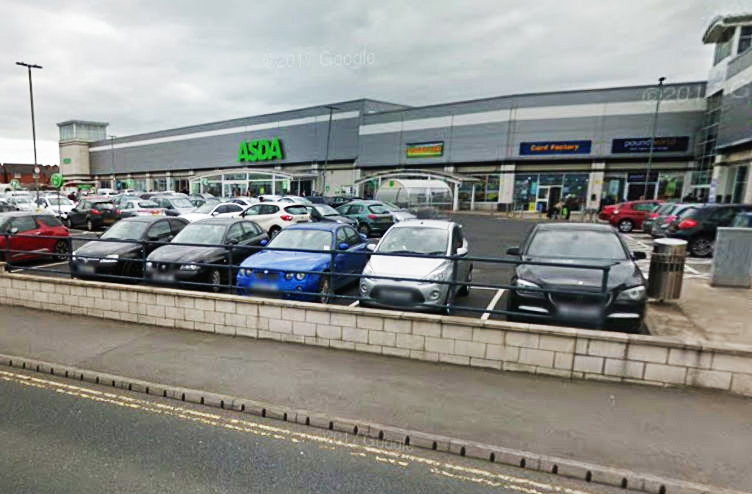 Glen Robert Vickers followed the woman, in her 70s, back to her car after she withdrew £50 from a cash machine at the Asda store, at Seaham. Picture: Google