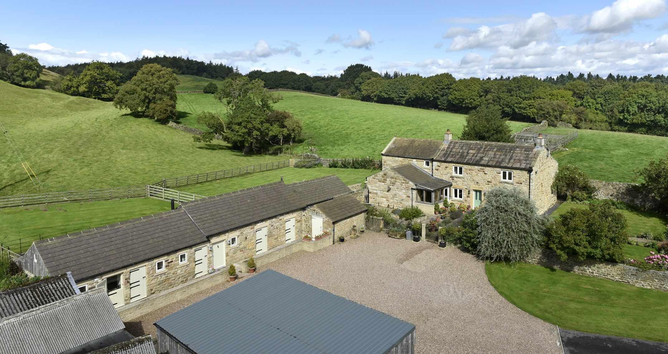 Hill Top Farm & Stables is on the market at a guide price of £895,000