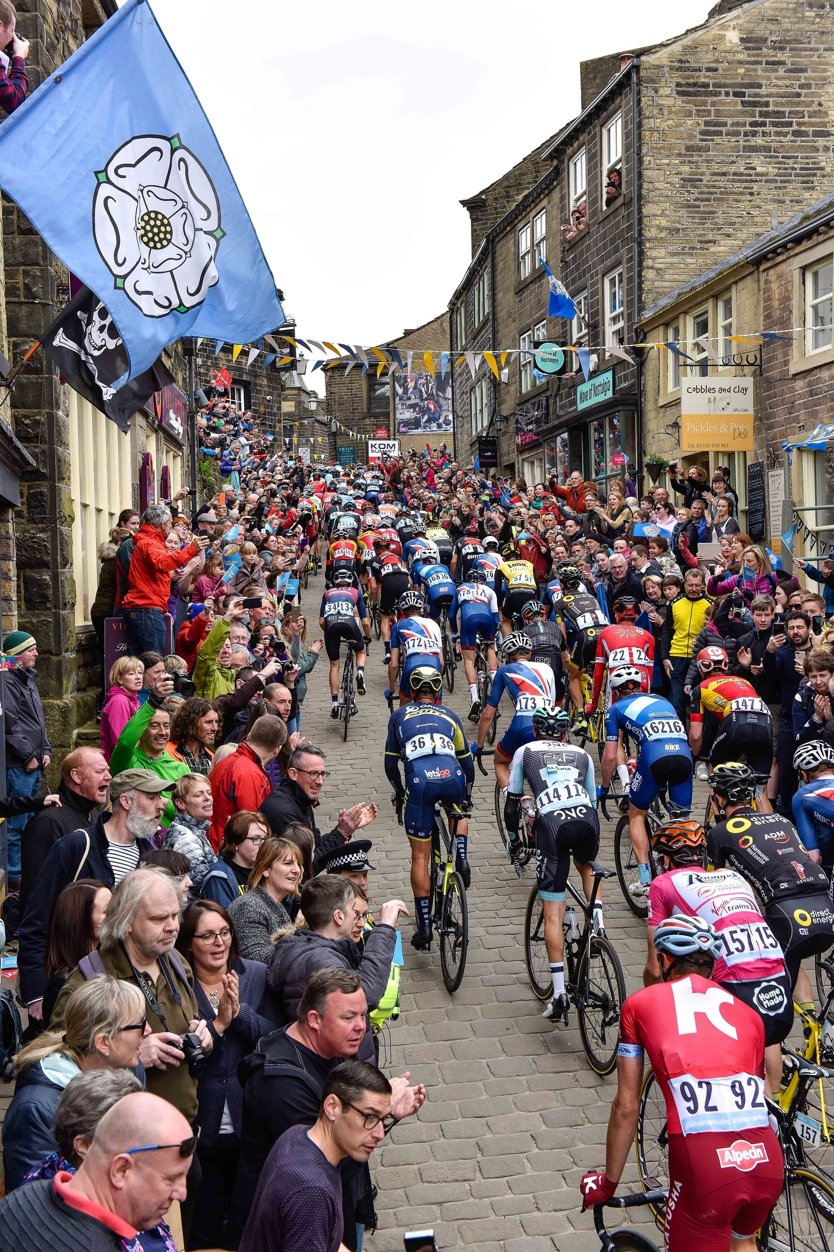 Tens of thousands of people across the district lined the streets to cheer on riders in the Tour de Yorkshire.