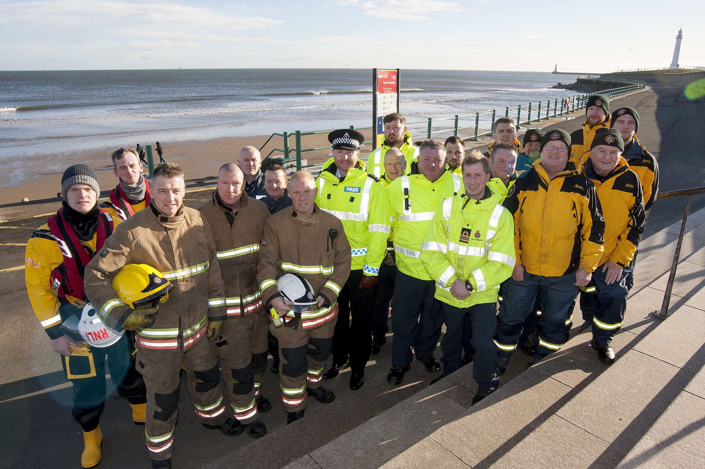 The crews that took part in the search and rescue