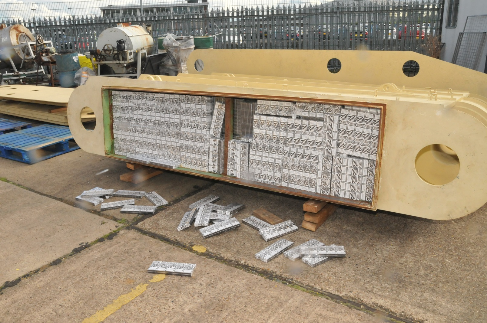 The stash of more than two millions cigarettes was found at the Port of Tyne, in North Shields