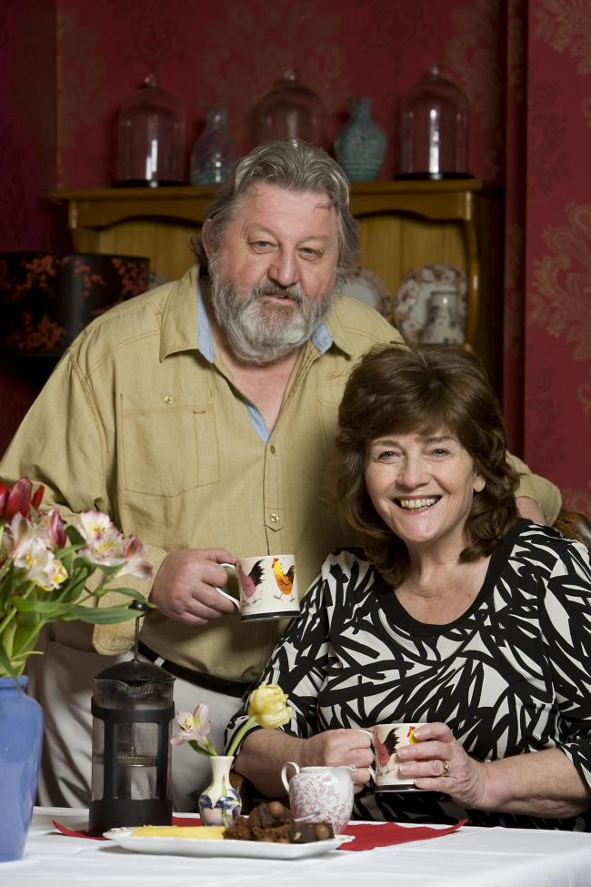 VENTURE: Keith Gill, pictured with wife Pauline, at the launch of another of his ventures, The Old Post Office bed and breakfast, based in Lanchester, near Consett