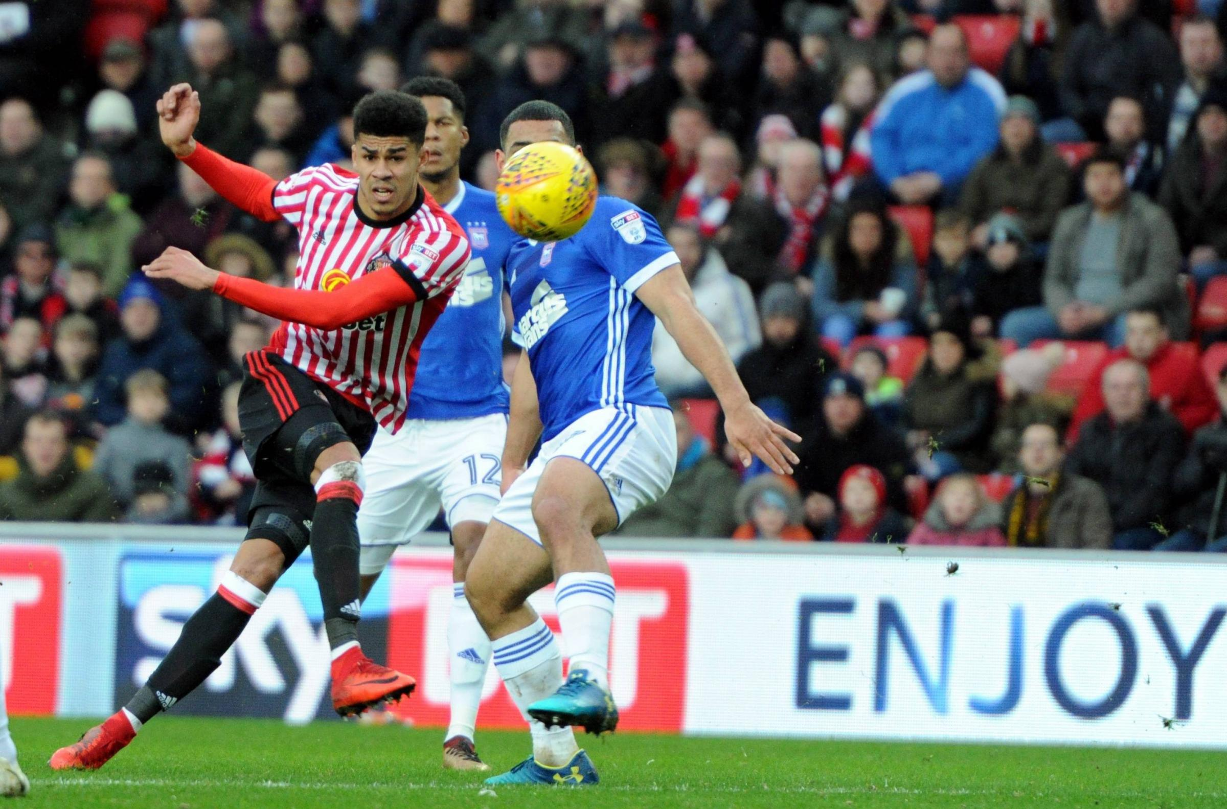 KEY MAN: Ashley Fletcher drew a blank on his Sunderland debut against Ipswich Town, but will be hoping for more success at Bristol City tomorrow