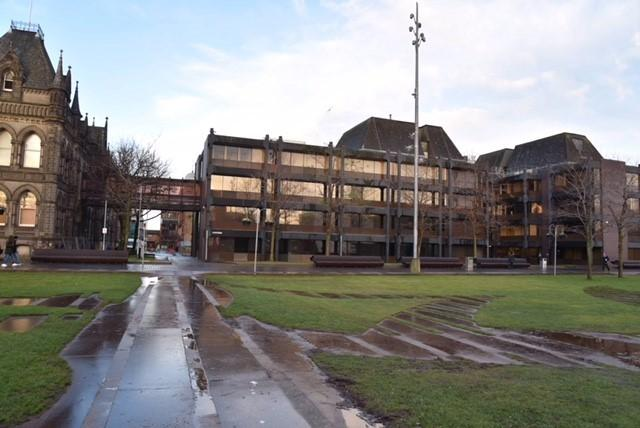 Middlesbrough's Civic Centre, close to where a woman was raped in Middlesbrough town centre on Saturday