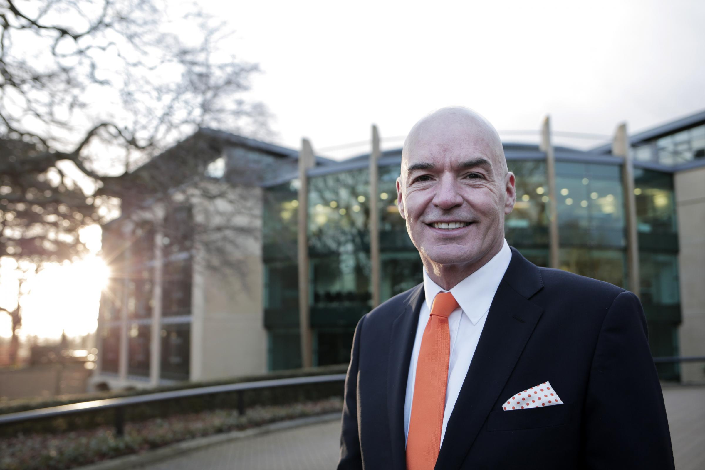 PLANS: Brian Archer, Business Durham's new managing director, says he wants to see companies flourish in the region. He is pictured outside Salvus House, in Aykley Heads, which is home to a number of growing firms    Picture: STUART BOULTON