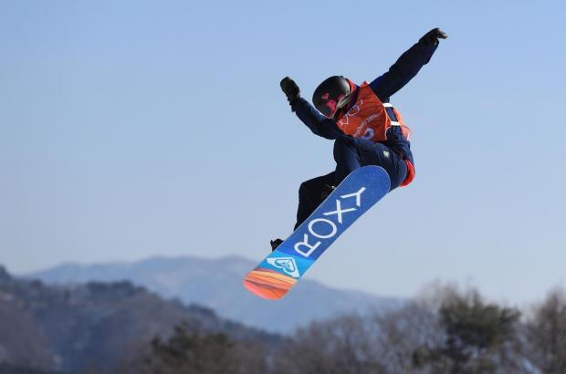 The Northern Echo: Brighouse snowboarder Katie Ormerod practises for the women's slopestyle at Phoenix Snow Park ahead of the Winter Olympics in South Korea – Picture: Mike Egerton/PA Wire