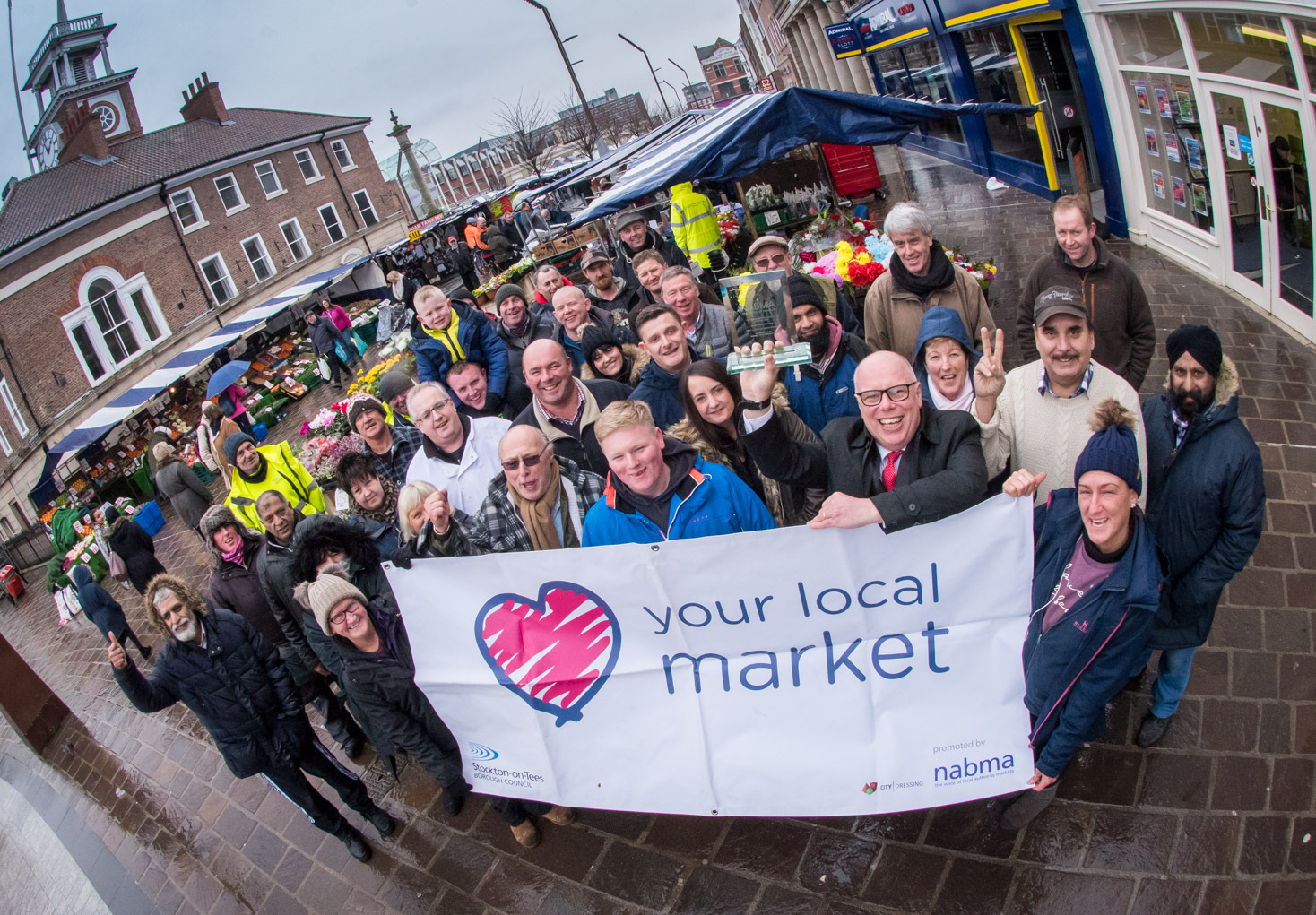 WINNER: Stockton Market has been awarded the prize for best large outdoor market in Britain