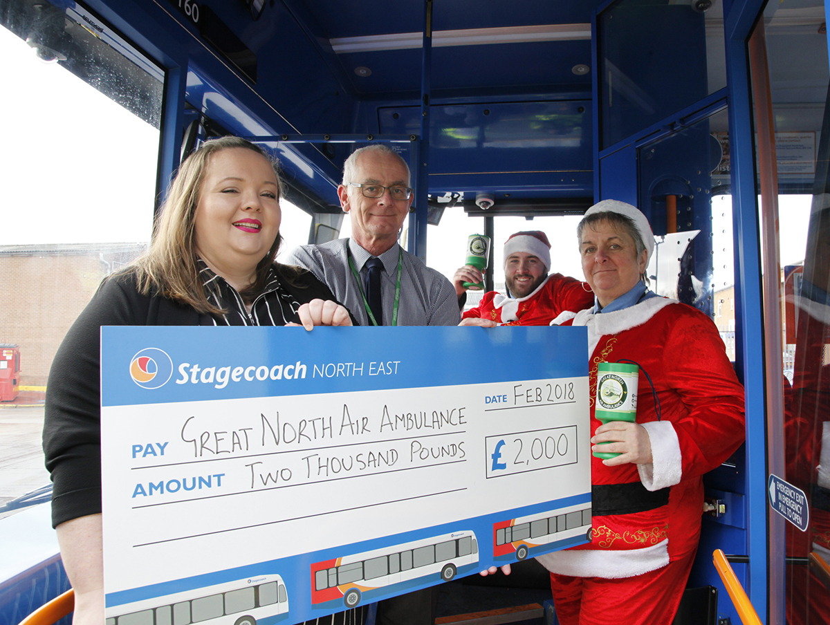 DONATION: Bus company hands over donation to the GNAAS