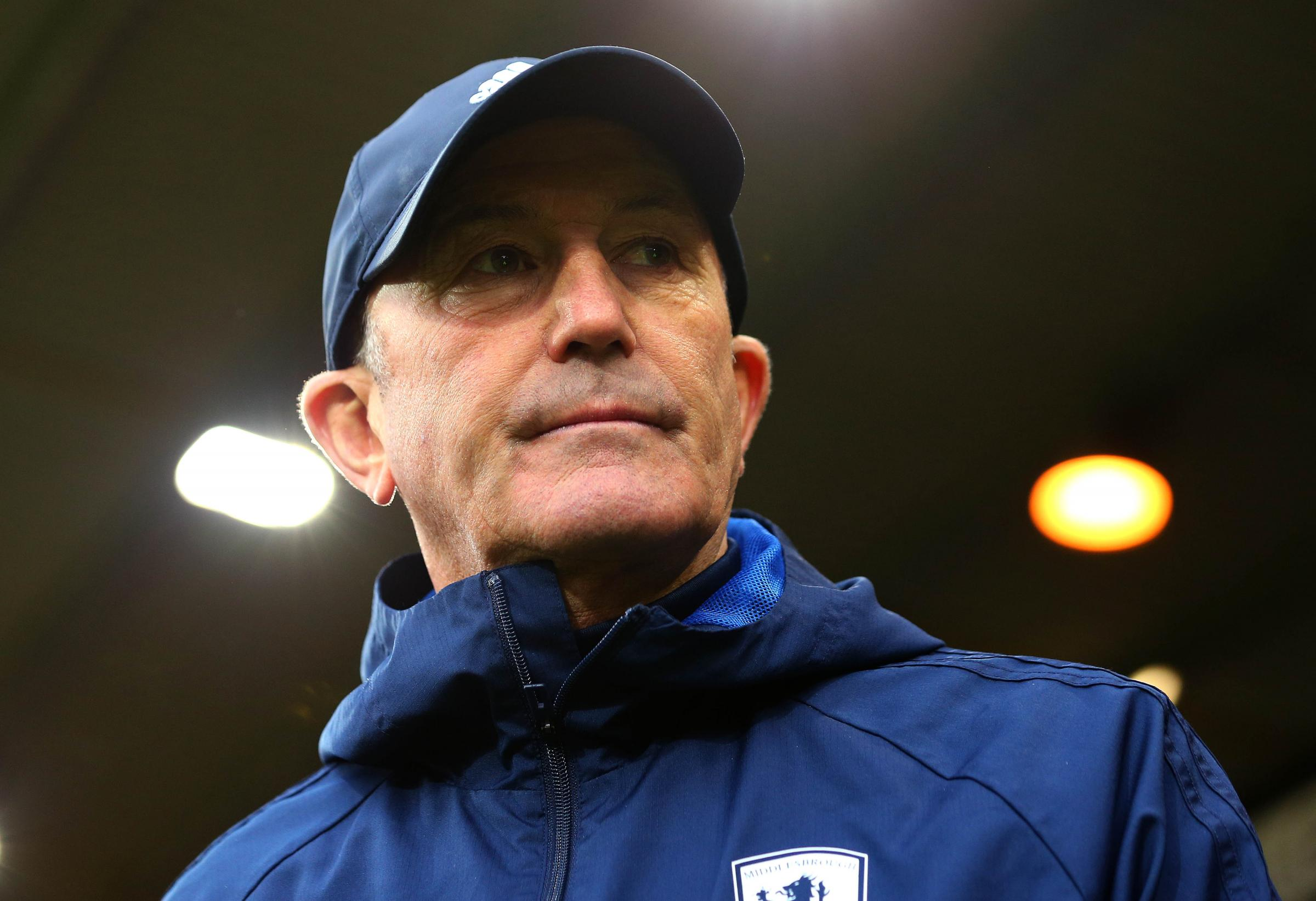 CONCERN: Tony Pulis admits Middlesbrough's lack of goalscoring success is proving extremely damaging