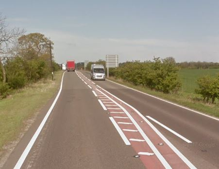The A66 has been closed after a serious accident.