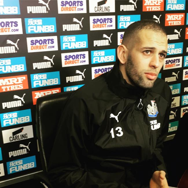 SIDELINED: Islam Slimani still hasn't played for the Magpies. Picture: Paul Fraser