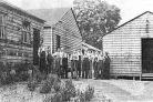 CAMP: Some of the young men at the Settlers Society camp at Fountains Abbey and Studley Royal during the 1930s