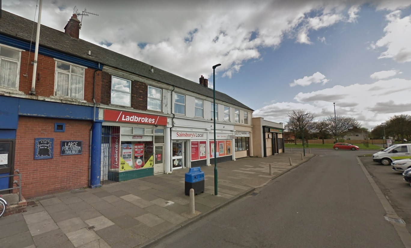 A large quantity of cash and a tablet device was stolen from Ladbrokes, Ennis Square, Redcar. Picture: GOOGLE