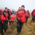 The Northern Echo: Teesdale and Weardale Search and Mountain Rescue Team on exercise