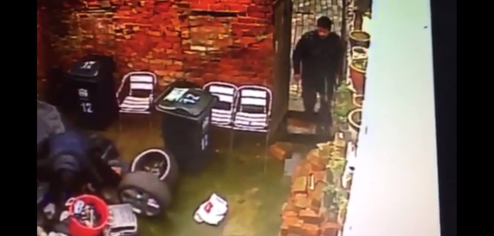CCTV captures two men taking alloys from rear yard