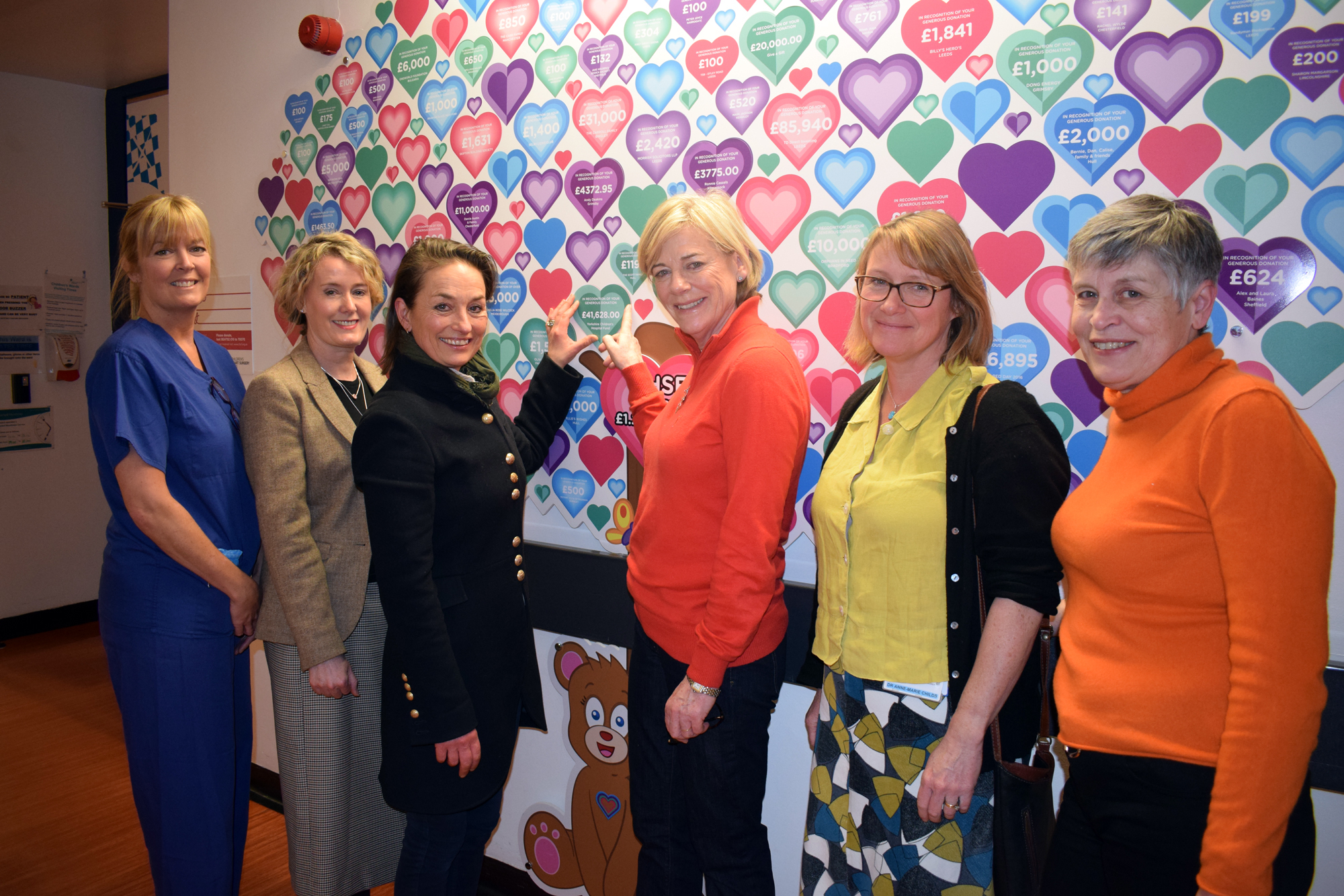DONATION: From left, Tracy Massey, Sharon Coyle, Jo Ropner, Countess Peel, Anne-Marie Childs and Louise Sampson
