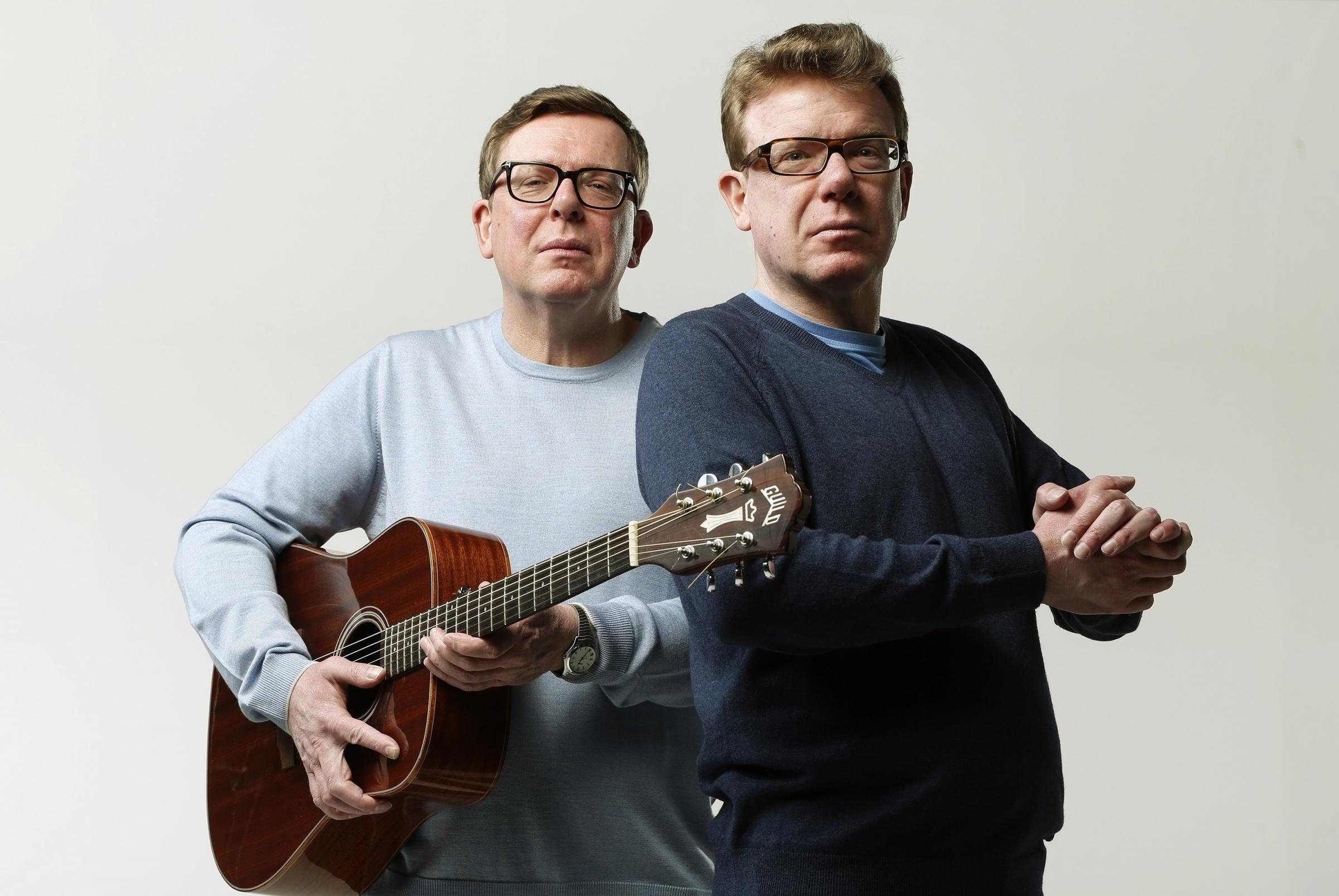 Craig and Charlie Reid, The Proclaimers. Seen here in studio shoot in Leith Picture: MURDO MACLEOD
