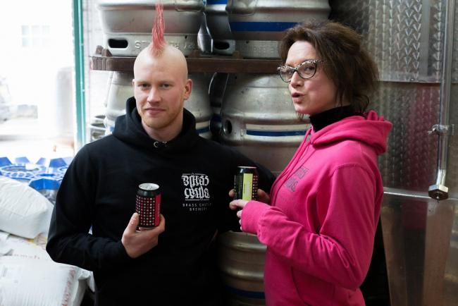 GLUTEN: Brewer Sam Teale and marketing manager Amy Pulling at Brass Castle Brewery in Malton