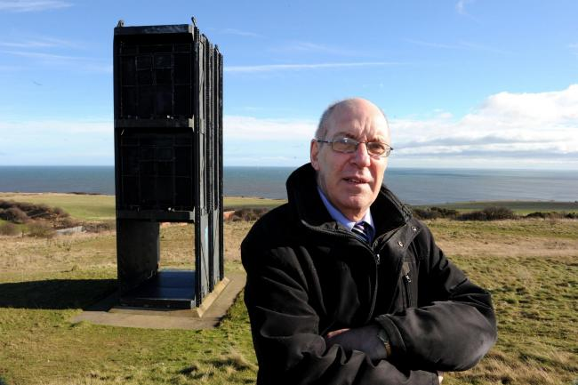 Alan Cummings, 66-year-old former NUM lodge secretary, stands at the old pit head in the ex-pit village of Easington Colliery, County Durham, where miners who broke the strike and