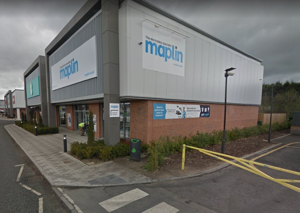OUTLET: Maplin's store on Arnison Retail Park at Pity Me, on the outskirts of Durham City      Picture: GOOGLE