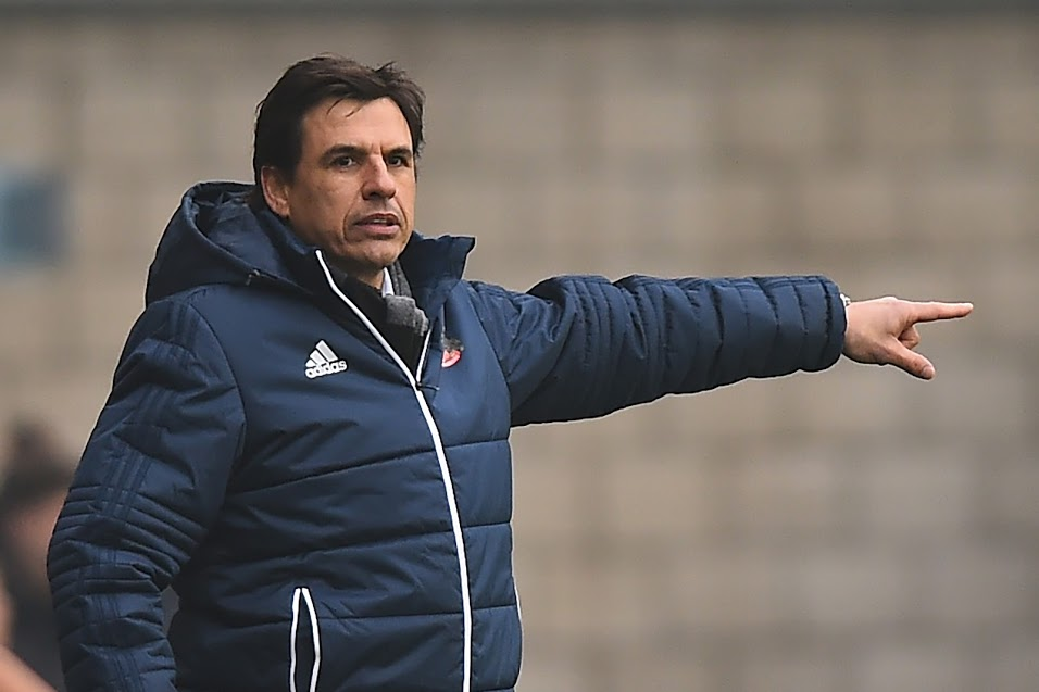 POINTING THE WAY: Chris Coleman watched his Sunderland side claim a 1-1 draw at Millwall (Picture: Jon Bromley/MI News & Sport)