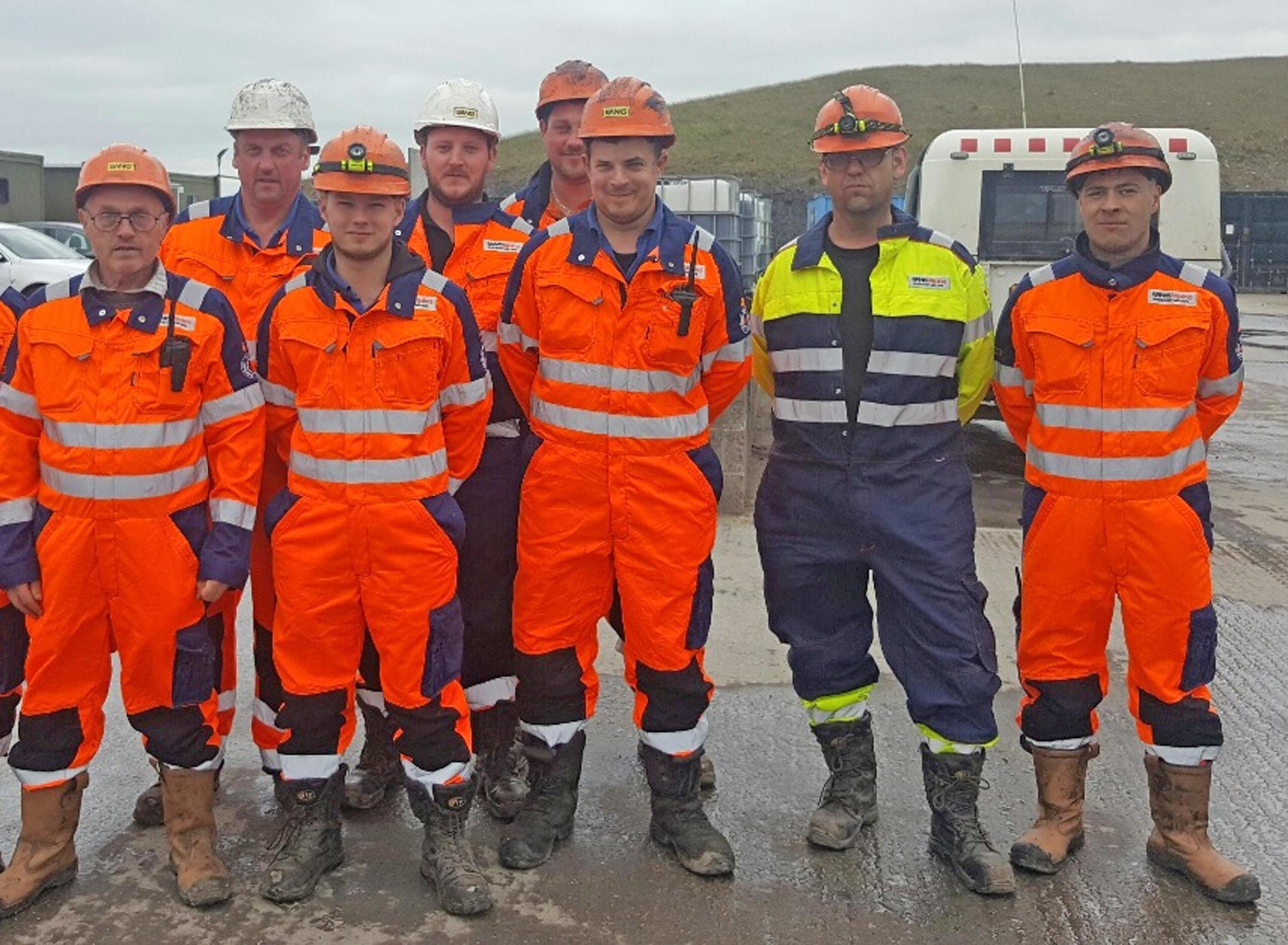 TEAM: Banks Group mining team members