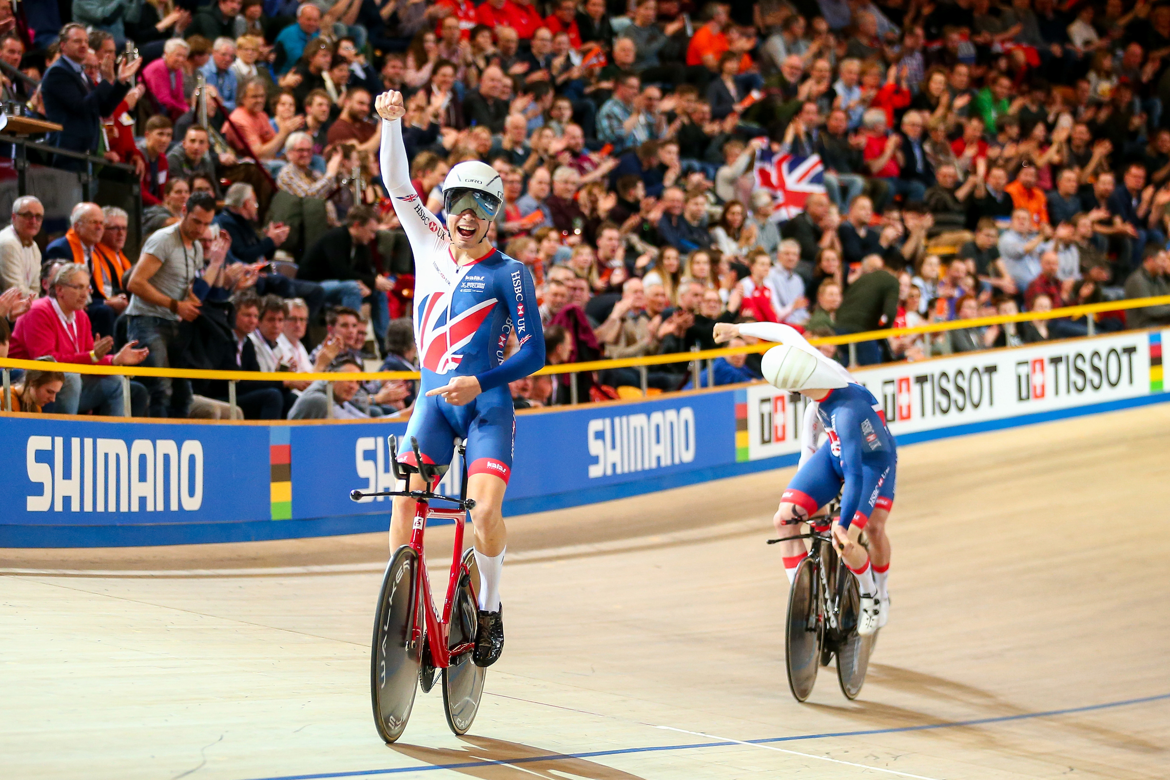 Charlie Tanfield at the 2018 UCI Track Cycling World Championships. Picture: SWpix.com