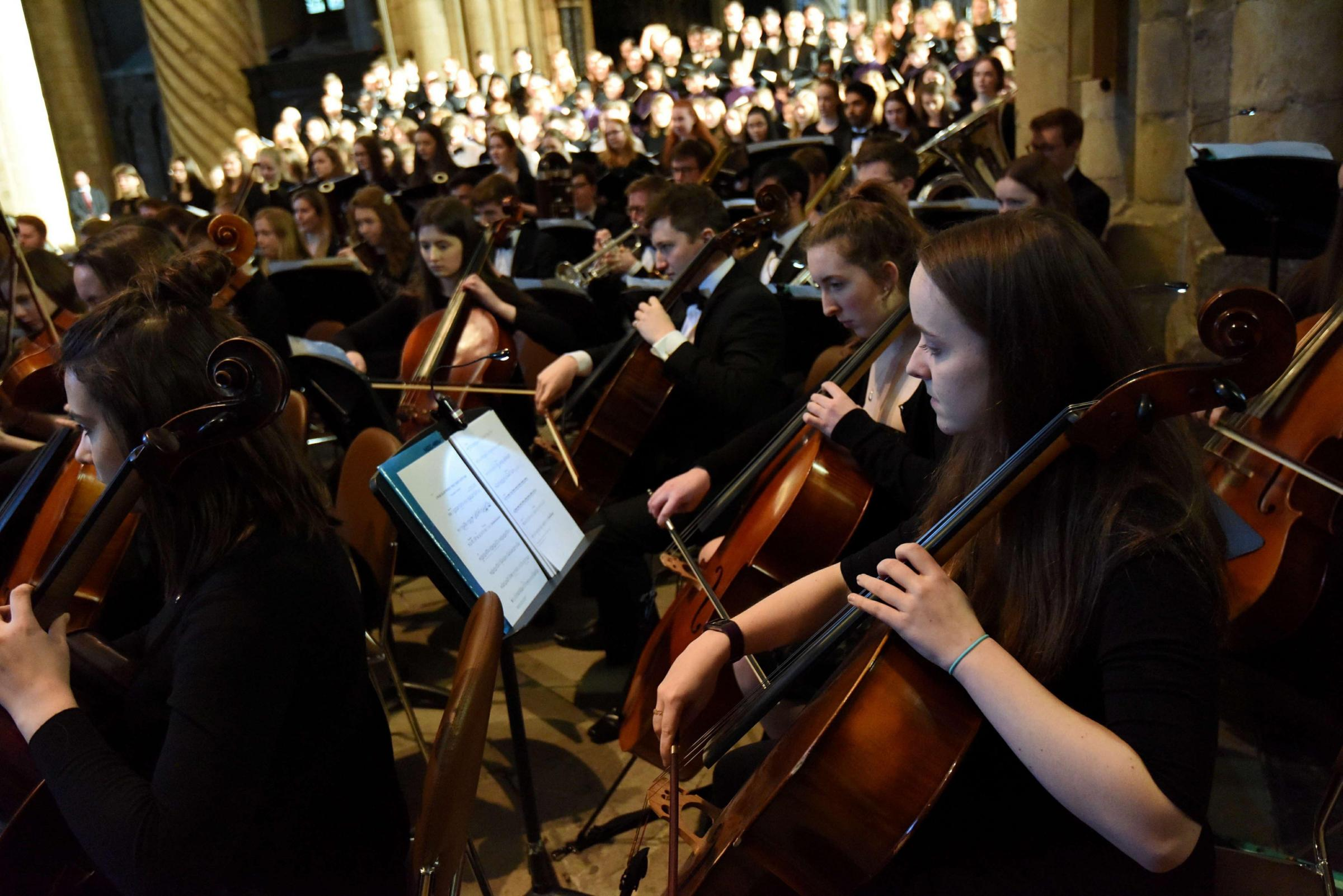CONCERT: Durham University students and Durham Choristers performing for Prince Charles