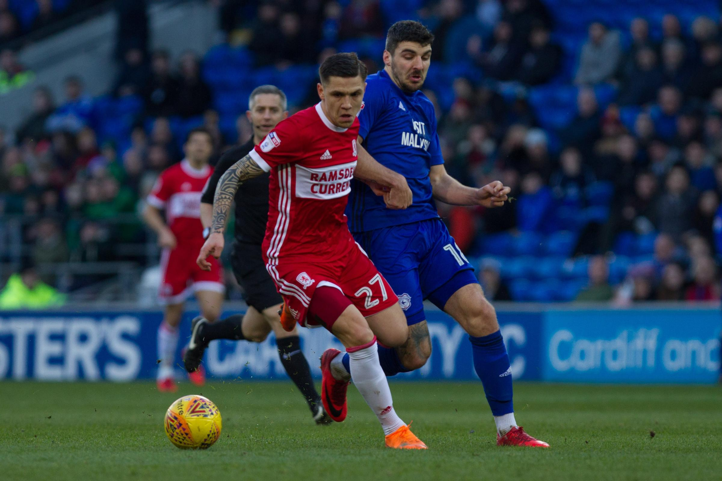 HEADING BACK: Middlesbrough are hoping to re-sign Everton midfielder Mo Besic on loan