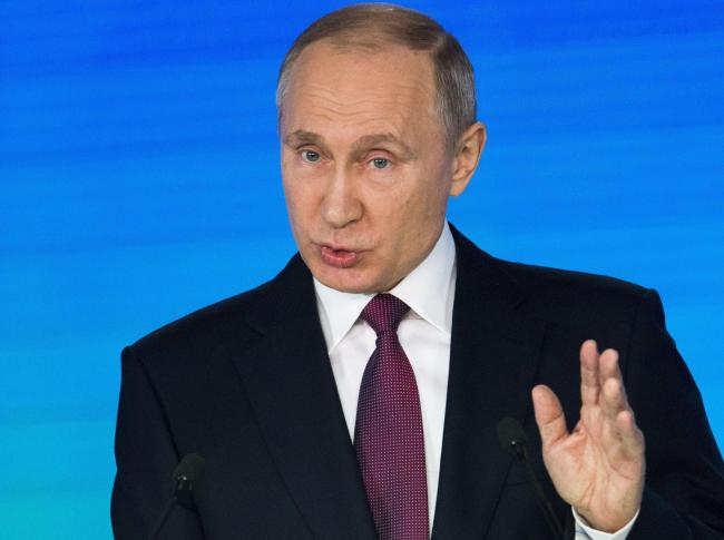 POPULAR: Russian President Vladimir Putin is hugely popular in his home country Picture: AP / Alexander Zemlianichenko