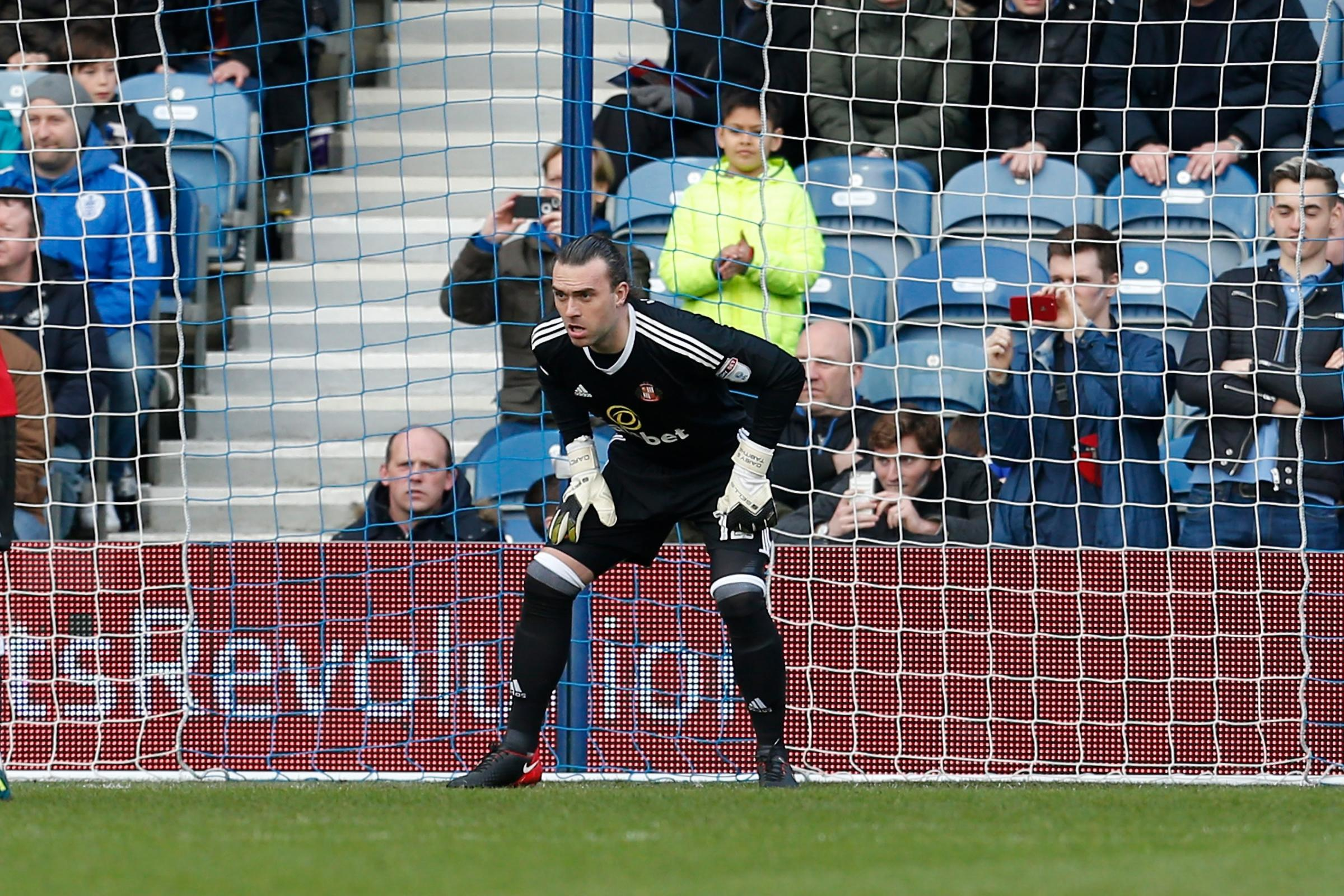 IMPRESSED: Sunderland's keeper Lee Camp had to come on and he did well