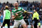 Celtic skipper Scott Brown celebrated a memorable win for his team at Ibrox (Jane Barlow/PA)