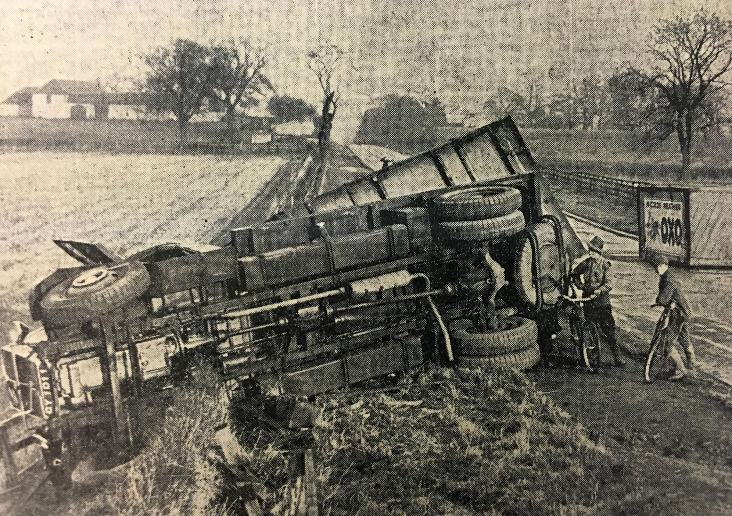 The accident on the Great North Road, in 1932