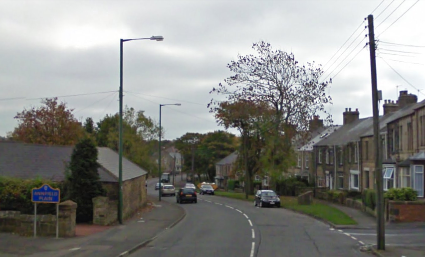 SCENE: The collision happened on New Front Street in Annfield Plain, near Stanley. Picture: GOOGLE