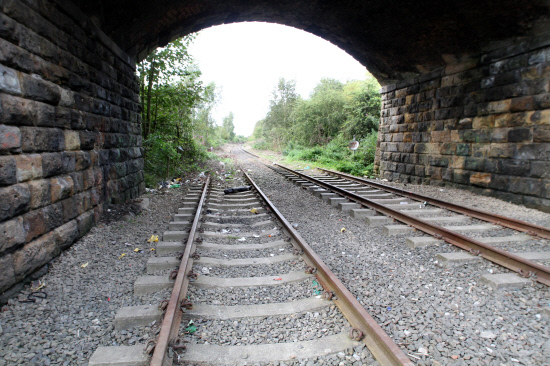 LINE: The unused Leamside line where it passes under Broomside Lane, Belmont, in Durham City. Picture: GAVIN ENGELBRECHT