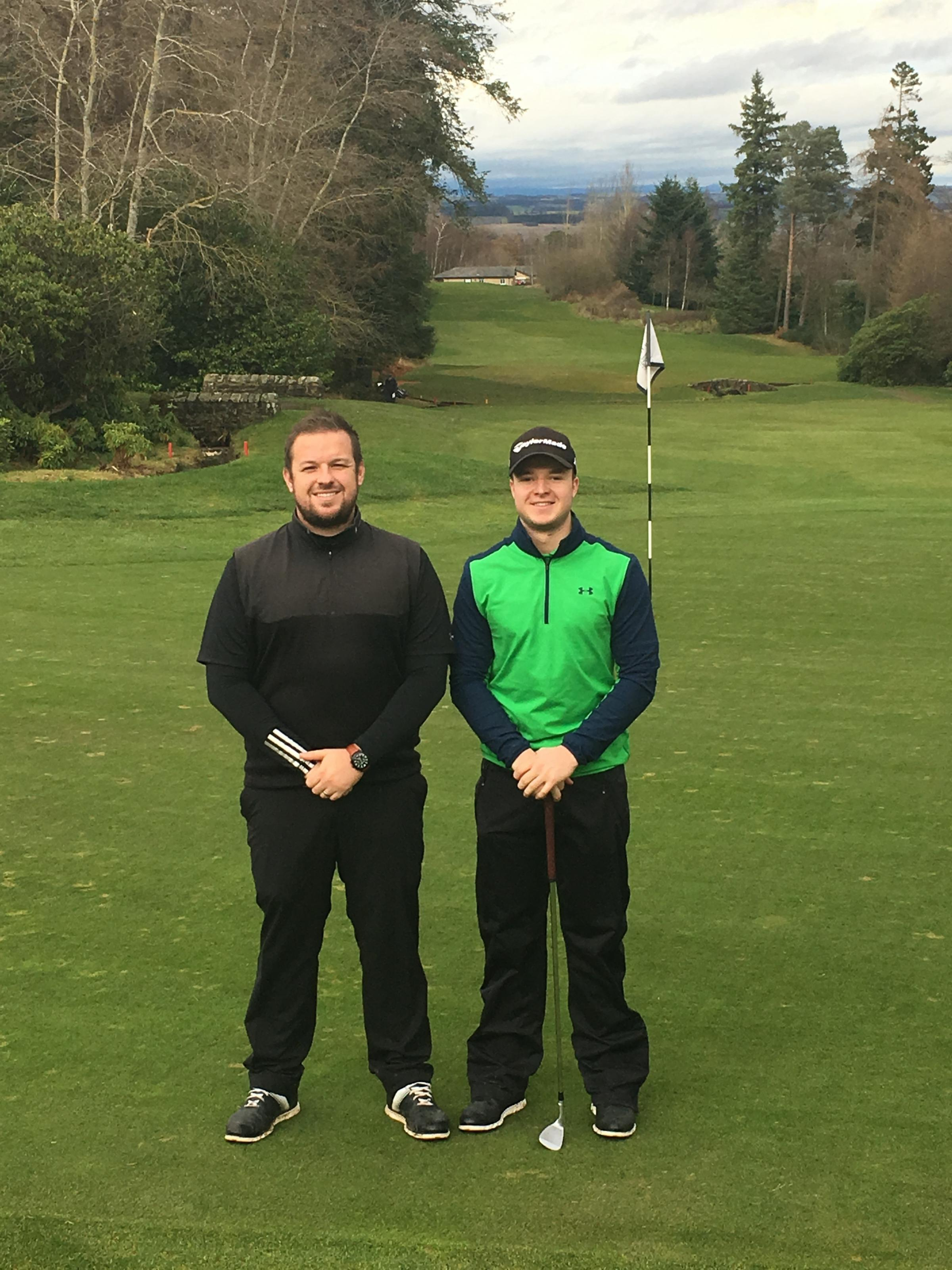 SUCCESS: Steve Fawcitt and Rhys Thompson at Slaley Hall.