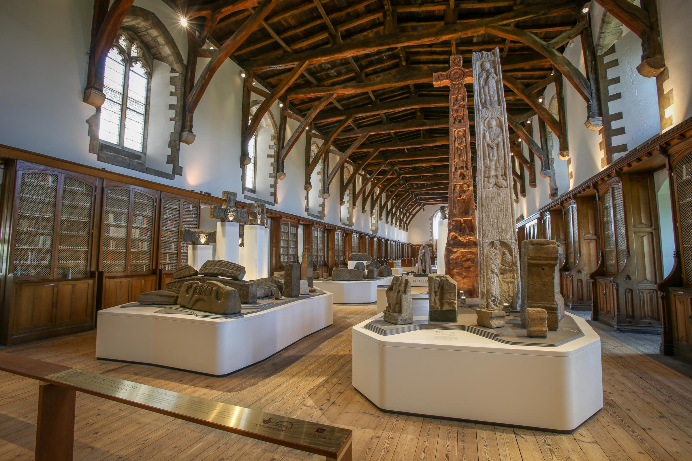 TREASURE: The monks dormitory, part of the Open Treasure Exhibition at Durham Cathedral Picture: DAVID WOOD