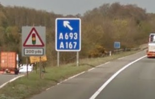 CRASH: The A1(M) at Chester-le-Street was closed this morning. Picture: Google